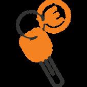 Icône clé Jumelage